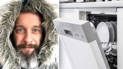 Mann entdeckt geheime Funktion in Spülmaschine