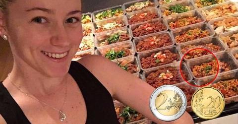 Sie gibt nur 2,20 Euro pro Mahlzeit aus und isst ausgewogen! Das ist ihr cleverer Trick!