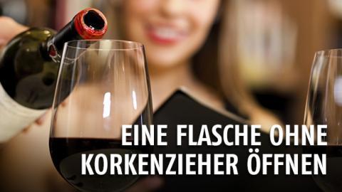 Gentside Tipps und Tricks Episode 20 : Wie öffnet man eine Weinflasche ohne Korkenzieher?