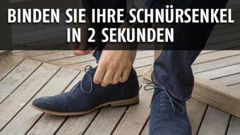 So binden Sie sich Ihre Schuhe in Windeseile zu