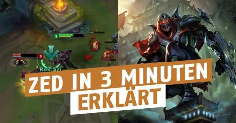 League of Legends: Er erklärt, wie ihr mit Zed in nur 3 Minuten zum Challenger werdet