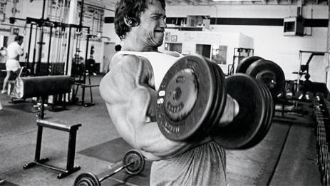 Arnold Schwarzenegger zeigt seine Lieblingsübung für den Bizeps