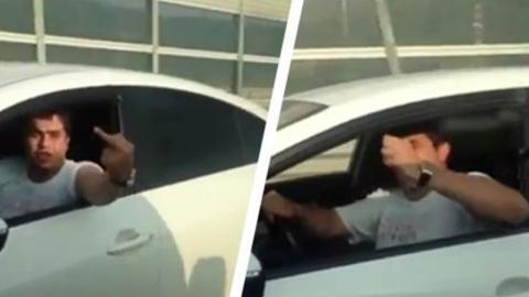 Mann pöbelt anderen Autofahrer an: Doch die gerechte Strafe lässt nicht lange auf sich warten