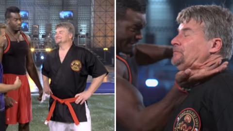 Karatemeister steckt kolossalen Schlag gegen die Halsschlagader ein