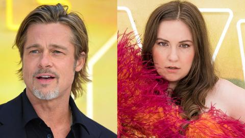 """Lena Dunham macht sich an Brad Pitt ran: Doch mit einer """"unangebrachten"""" Geste schockiert sie das Internet"""