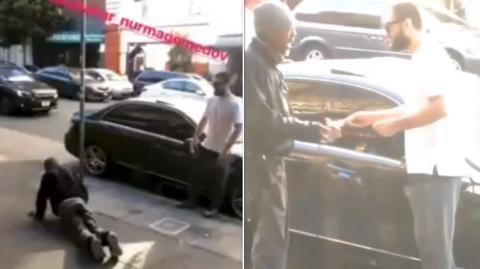 Obdachloser gedemütigt: UFC-Kämpfer Khabib Nurmagomedov sorgt mit Video für Empörung
