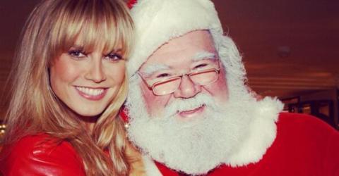 Ausgerechnet beim Weihnachtsmann: Heidi Klum fällt etwas aus der Bluse!