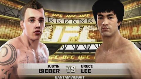 Bruce Lee vs. Justin Bieber: Der MMA-Kampf von dem jeder geträumt hat als Videospiel-Simulation