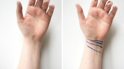 Wusstet ihr, dass die Linien der Handgelenke eine Bedeutung haben?