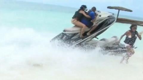 Dieser Jet Ski-Unfall auf den Bahamas wird euch umhauen!