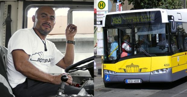 Flüchtlinge werden zu Busfahrern ausgebildet