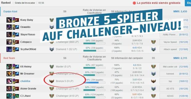 Bronze 5 auf Challenger!