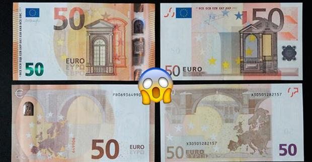 Gefälschte 50 Euro Scheine