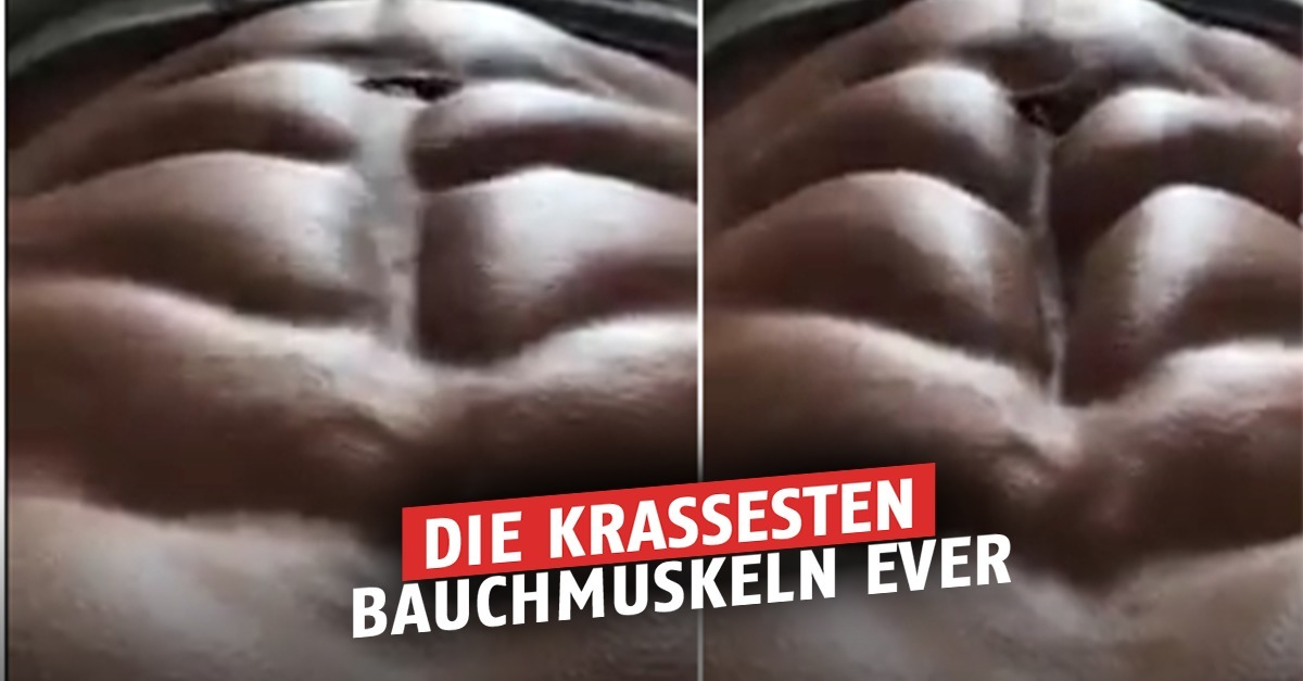 Die härtesten Bauchmuskeln, die ihr je gesehen habt! Was er damit ...