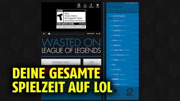 League Of Legends Finde Deine Gesamte Spielzeit Heraus Auf Dem Moba