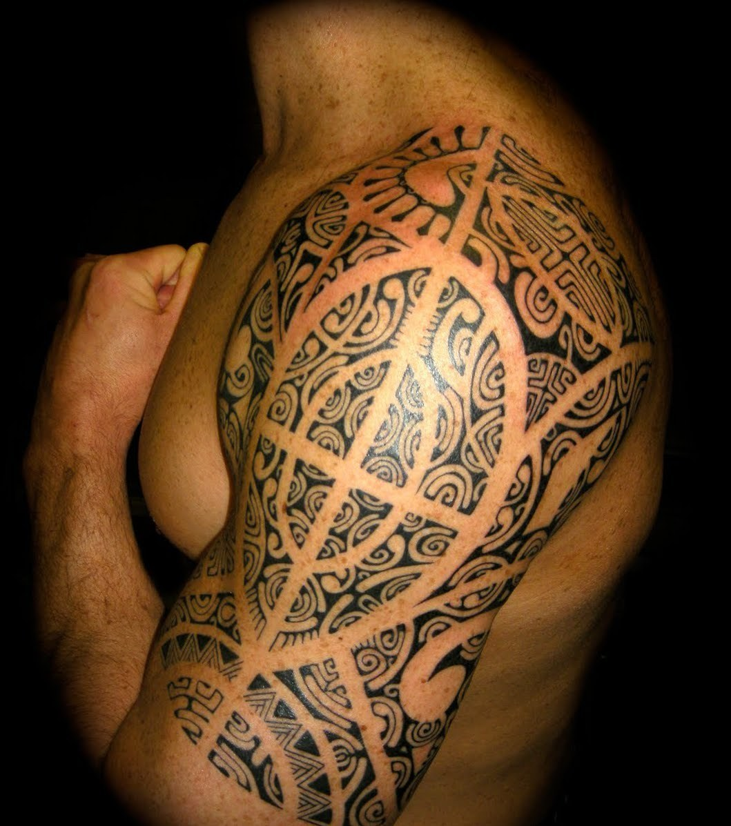 Tribal Tattoo Oberarm. Tribal Tattoo Oberarm. Tribal Maori Mens ...