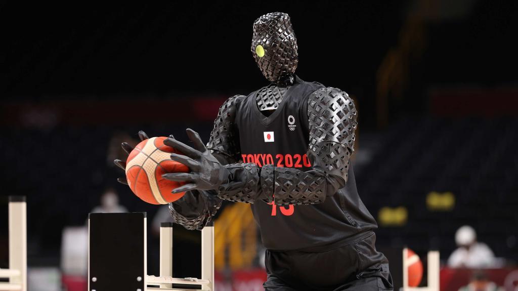 Olympia: Dieser Basketball-Roboter trifft ausnahmslos jeden Korb!