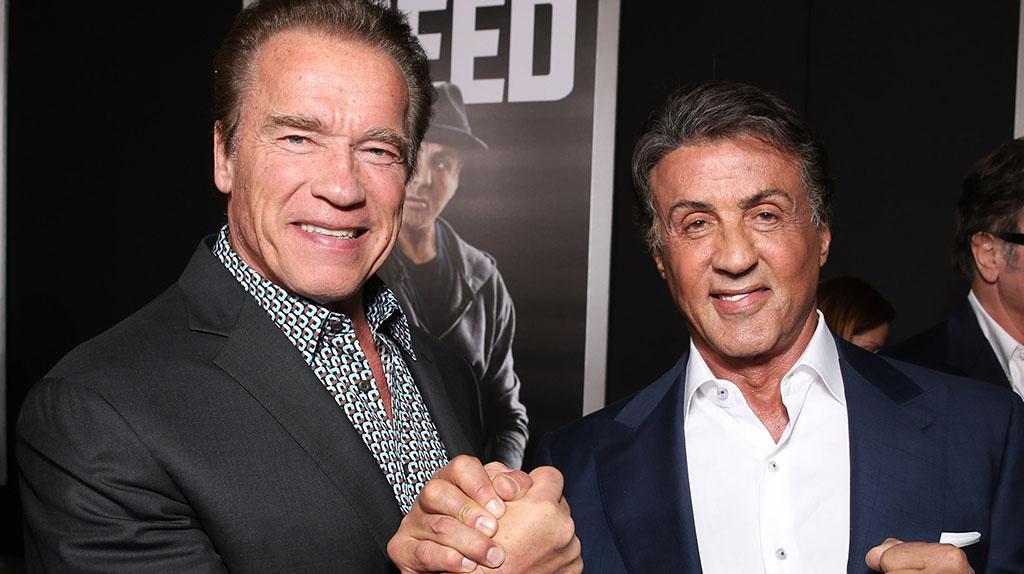 Terminator versus Rambo: Arnold Schwarzenegger lässt Stallone in die Falle tappen