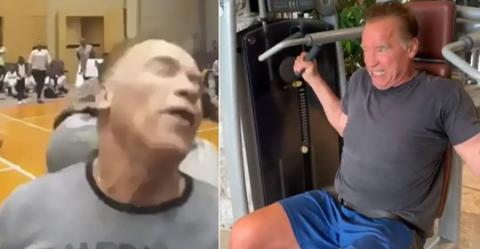 Arnold Schwarzenegger: Ein Video zeigt ihn drei Tage nach dem brutalen Angriff in Johannesburg beim Training