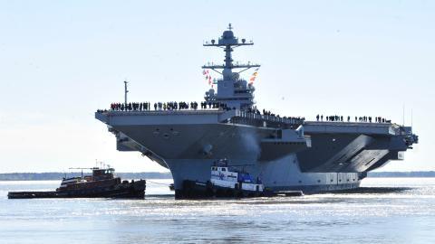 Härtetest: US-Navy testet neuen Flugzeugträger mit Wasserbombe