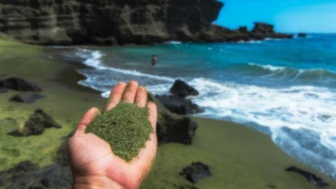 Geniale Idee: Grüner Sand soll Klimawandel aufhalten