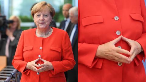 Bundeskanzlerin Angela Merkel: Woher kommt ihre berühmte Handgeste?