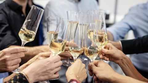 Champagner ist gut für die Gesundheit - Natürlich nur in Maßen