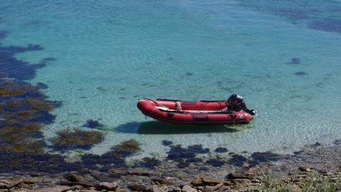 Frau in Lebensgefahr: Sie treibt in ihrem Schlauchboot auf Haie zu
