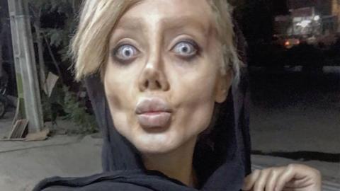 Angelina Jolie-Doppelgängerin: Das steckt hinter ihrem Zombie-Aussehen