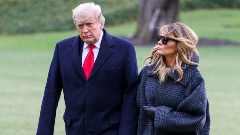 Melania und Donald Trump: Das Weiße Haus leert sich und der Unmut wächst