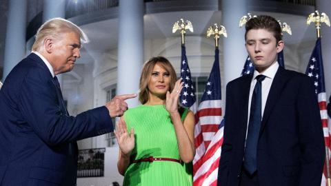 Joe Biden: Übler Seitenhieb gegen Donald Trumps Sohn Barron
