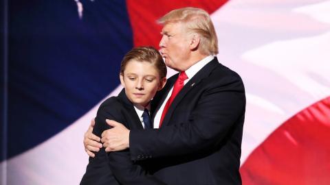 Barron Trump: Letzte Überbleibsel des Teenagers aus Weißem Haus entfernt